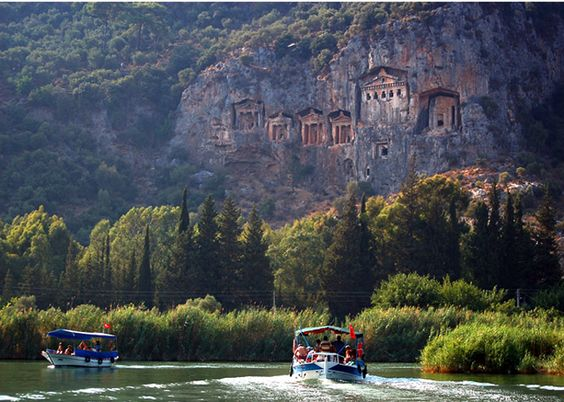 Dalyan - Marmaris, Turkey, check! We were on little river boats here. amazing