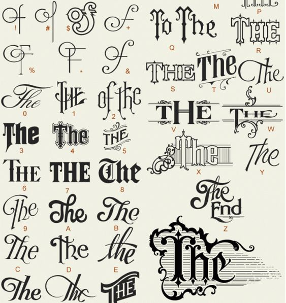 The typography font letterheadsfonts end vintage