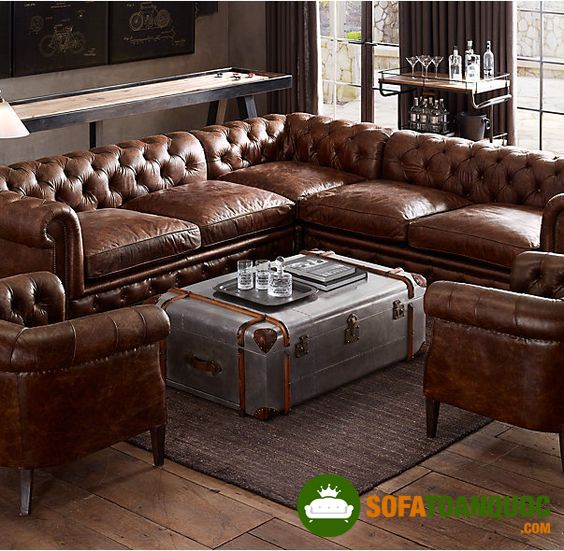 High Quality Imported Italian Leather Sofa Interiors Bars For Home Chesterfield Sofa Home Furnishings