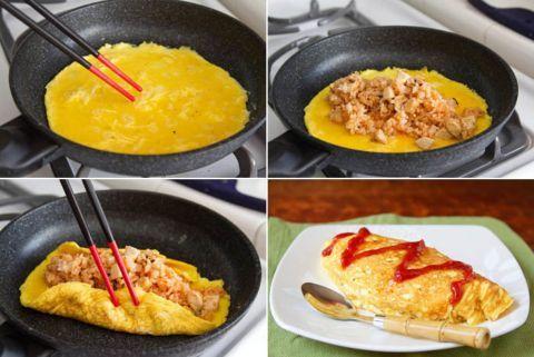 Resep Dan Cara Membuat Omurice Win A Year S Supply Of Eggs La Fuji Mama Yaponskaya Eda Vkusnyashki Korejskaya Eda