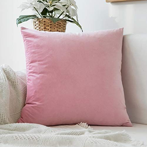 Miulee Velvet Soft Decorative Square Throw Pillow Case Cu Https Www Amazon Co Uk Dp B07jhqsmzz Ref C Velvet Pillow Covers Pink Pillow Cases Velvet Pillows