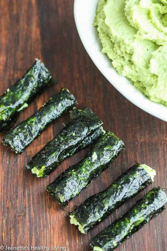 Edamame Avocado Miso Hummus - this protein packed dip is great with veggies or as a spread on nori seaweed wrappers