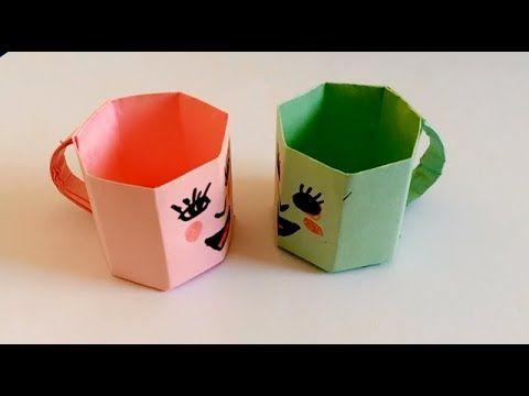 كيف تصنع كوب بالورق How To Make Paper Cup Container Takeout Container