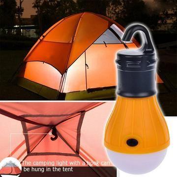 Mini Portable LED Light Bulb 4 Colors Outdoor Tent Light Camping Emergency Lamp