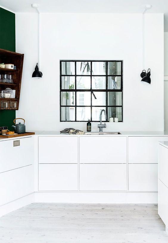 Zwarte details keuken