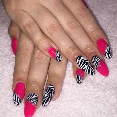 zebra nail art designs for 2016