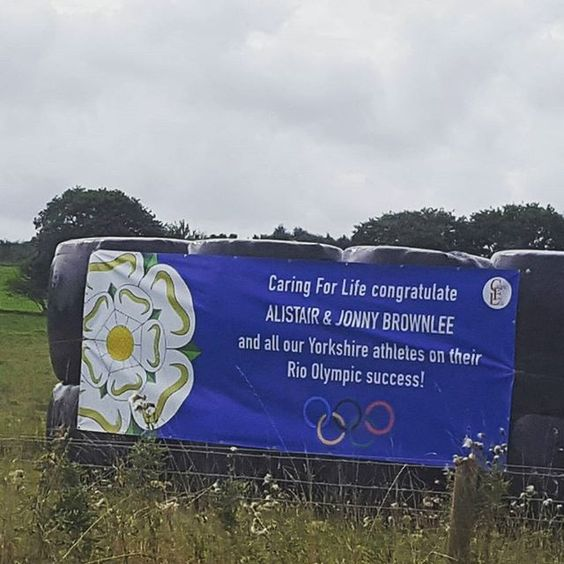 Spotted in a field in Yorkshire #brownleebrothers #BringOnTheGreat #teamgb #triathlon #olympicgames #Rio2016 #yorkshire