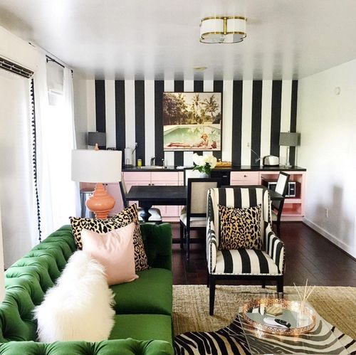 Colorful Couch Choices Striped Wallpaper Living Room Black And White Living Room Striped Room Idea striped colorful living room