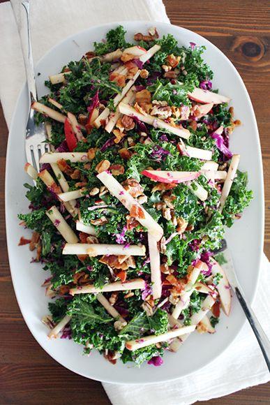 Kale, Apple and Pancetta Salad   Recipe   Thanksgiving ...
