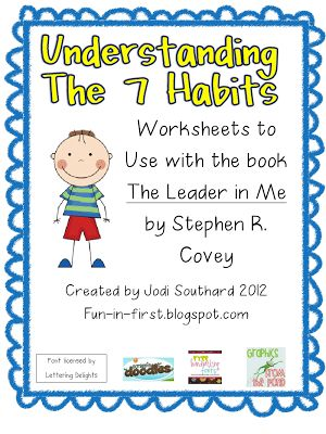 Printables 7 Habits Worksheets book language and 7 habits on pinterest these are pdf worksheets that define each habit in child friendly and