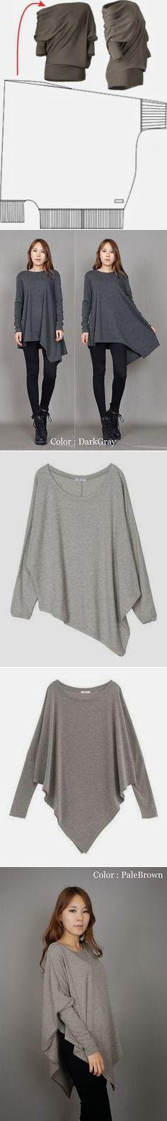 Простые выкройки модных блузонов