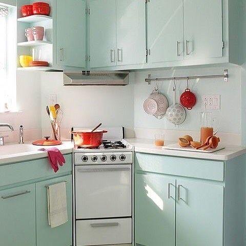 Que Cozinha Mais Fofa Organizesemfrescuras Inspiration Pinterest Cozinha Kitchen Retro Kitchen Retro Home Decor Kitchen Inspirations