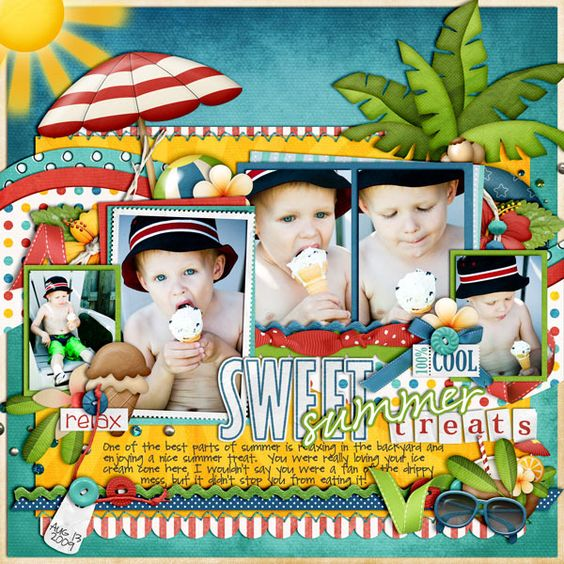 Cindy's Layered Templates Set 56 Beach Kids (Bundle 1) by Lliella Designs Beach Kids (Bundle 2) by Lliella Designs
