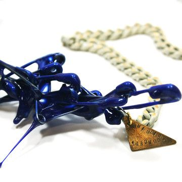 Camouflage Necklace Blue by CONCEPTSMITHING. A graduate of the Savannah College of Art and Design, Seonyong Lee is a budding designer based in South Korea.