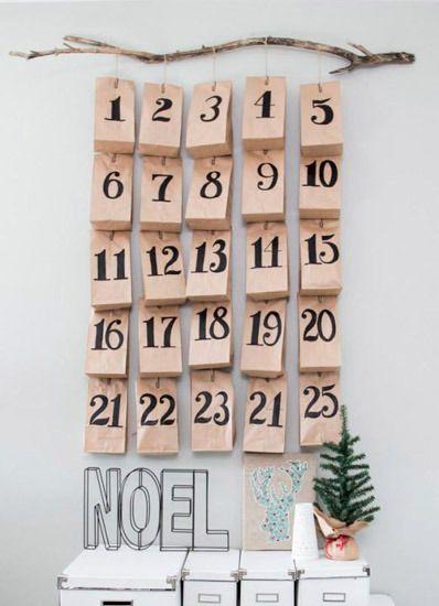 cómo hacer un calendario de adviento diy original