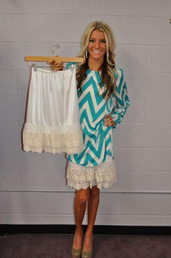 Plus size lace dress extender