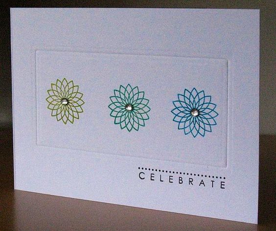 Celebrate, One layer, clean and simple card