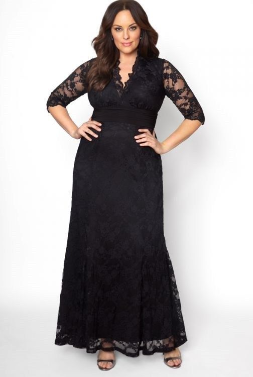 Plus Size Black Lace Maxi Dresses In Modern Styles Black Lace Maxi Dress Lace Evening Gowns Plus Size Gowns Formal