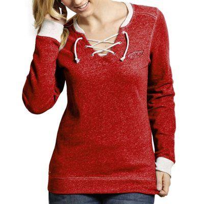 Antigua Detroit Red Wings Ladies Rally Sweatshirt - Red