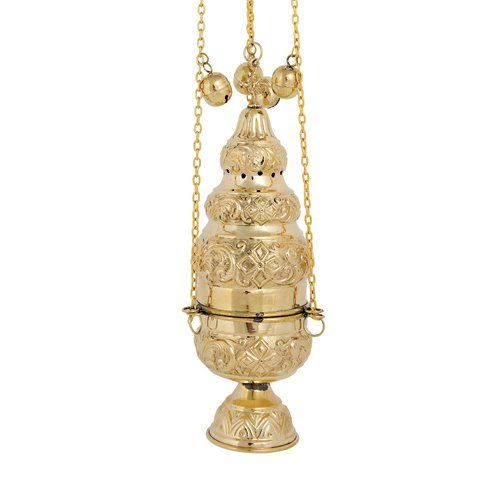 High Polished Brass Christian Church Thurible Incense Burner Censer 375 B Click For More Special Deals Incenseholder Polished Brass Censer Incense Burner