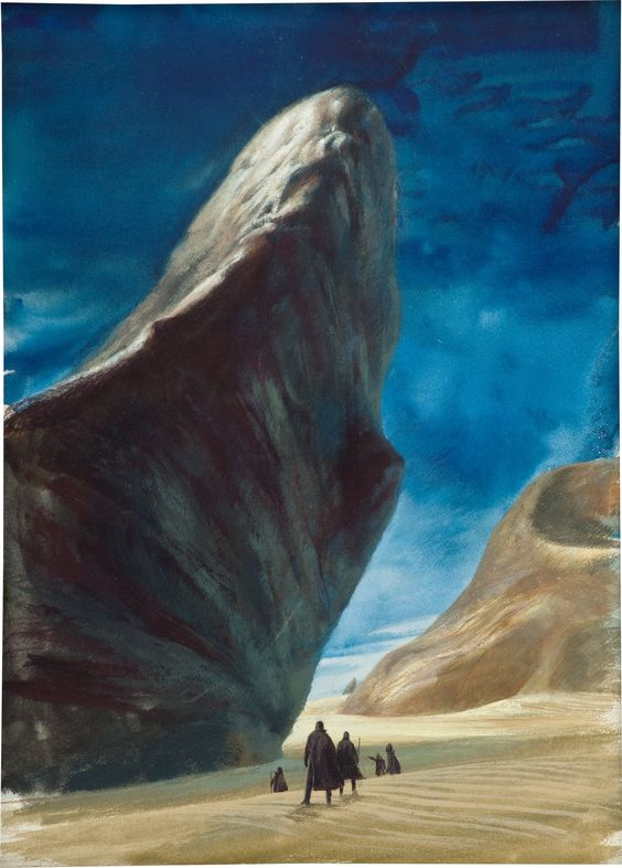 JOHN SCHOENHERR (American, 1935-2010). Dune, paperback cover, 1965. | Lot #30060 | Heritage Auctions