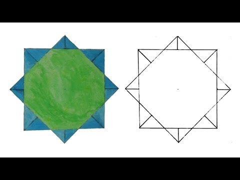 زخرفة سهلة وبسيطة رسم وحدة زخرفية لا نهائية الزخرفة الإسلامية الهندسية Islamic Geometric