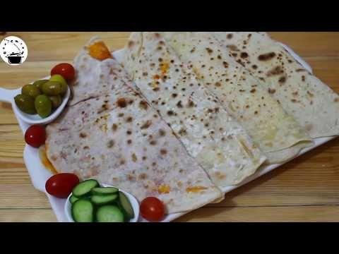 خبز الصاج او خبز بفليفلة و جبنة بعجينة ناجحة و سهلة و سريعة Youtube Food Bread Matzo