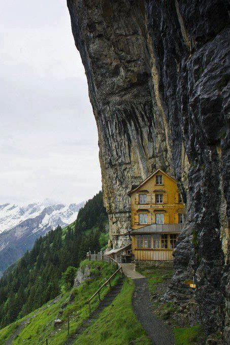 Well hidden in the Alps. -