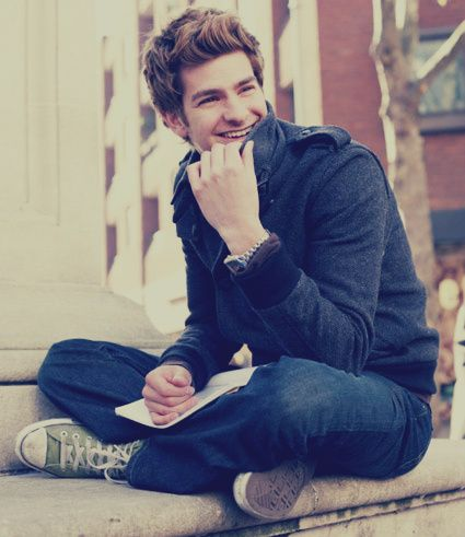 Andrew Garfield. I fell in love after watching The Amazing Spiderman last night <3
