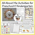 All About Me Activities for Preschool and Kindergarten:  Printables, Ideas and Activities