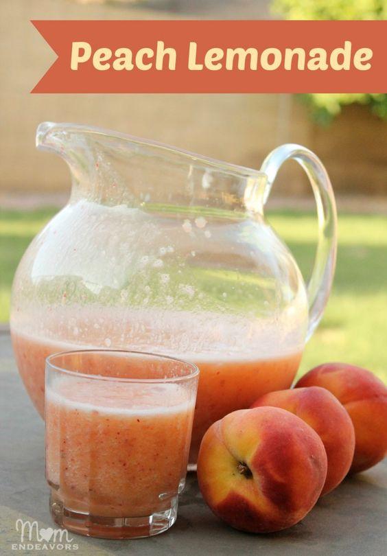 Frozen Peach Lemonade - SO good!