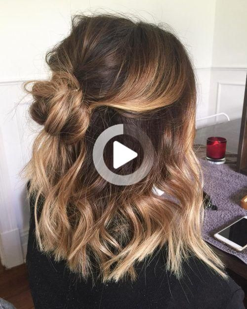28 Cute Hairstyles For Medium Length Hair Popular For 2019 Popular Style In 2020 Medium Length Hair Styles Hair Styles Wedding Hairstyles For Medium Hair