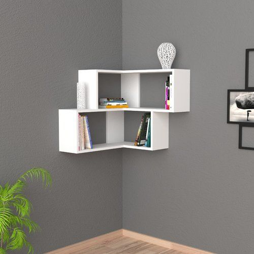 Brayden Studio Ecke Wall Shelf Wayfair Co Uk Floating Wall Shelves White Unique Wall Shelves Corner Shelf Design