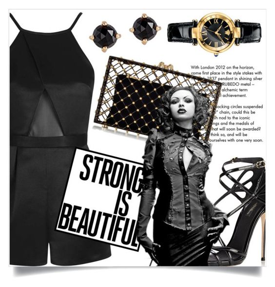 """""""Strong is Beautiful"""" by captainsilly ❤ liked on Polyvore featuring Topshop, Dolce&Gabbana, Tiffany & Co., Charlotte Olympia, Irene Neuwirth and Versace"""