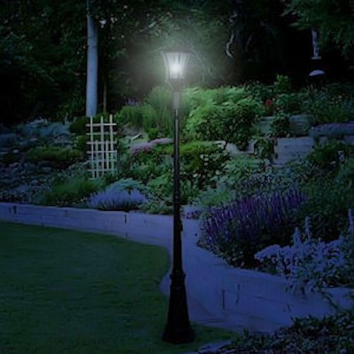 Victorian Solar Lamp Post 1 Head Gama Sonic Greenlytes Solar Lamp Post Lamp Post Solar Post Lights