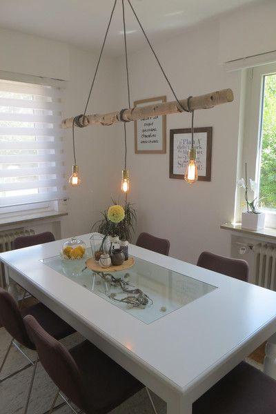 Lampe aus Birkenstamm von MiBi-Shop auf DaWanda.com