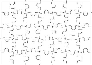 Free Jigsaw Puzzle Templates. Printable and in different sizes ...