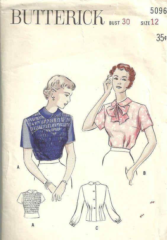 40s sheer blouse pattern