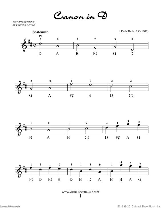 beginner canon in d sheet music piano - Google Search : Piano : Pinterest : D, Piano and Sheet music