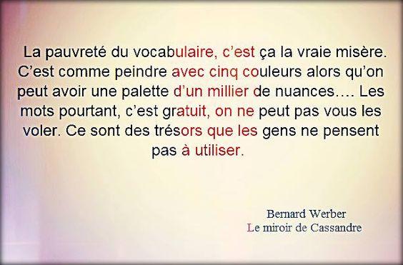 Bernard werber le miroir de cassandre citations for Le miroir de ma vie