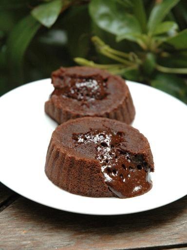 Recette Coulant au chocolat allégé, notre recette Coulant au chocolat allégé - aufeminin.com