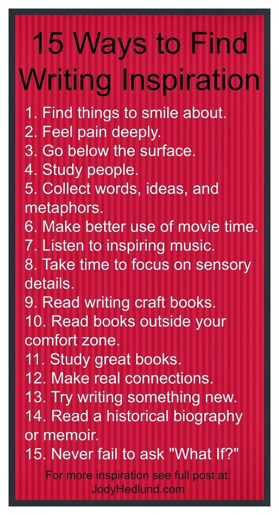 Author, Jody Hedlund: 15 Ways to Find Writing Inspiration in 2015