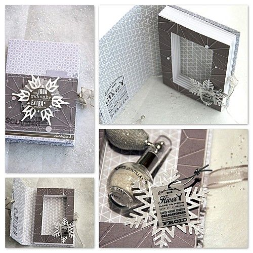 Shadow box no l and flocons de neige on pinterest - Idee cadeau noel mere ...