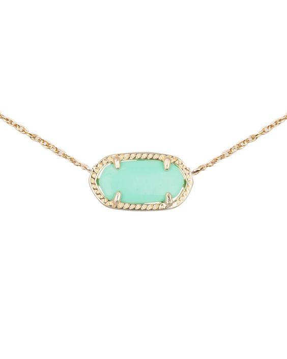 Elisa Pendant Necklace in Mint   Kendra Scott Jewelry