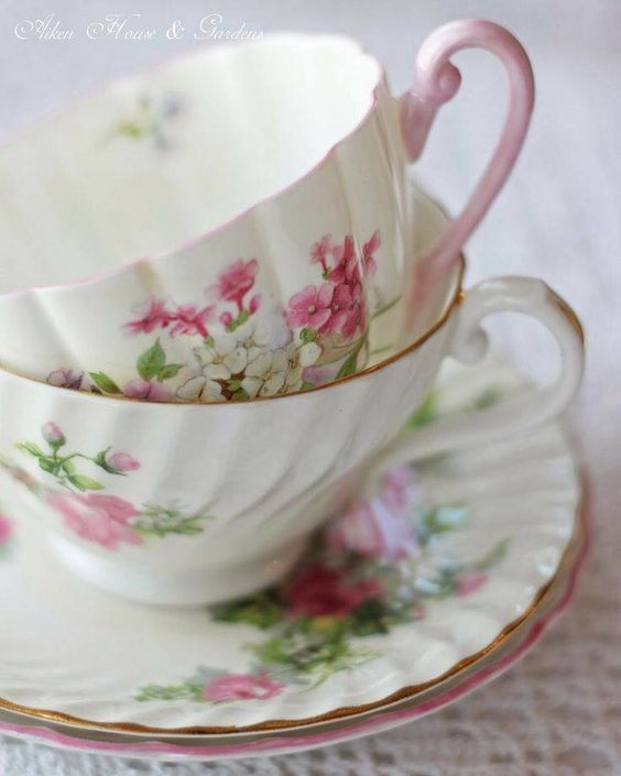 Two Teacups and Saucers