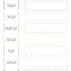Cute Printable Week Calendar