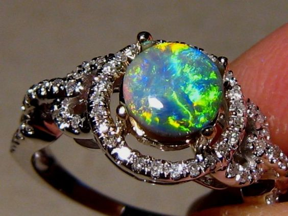 Opal Engagement Rings, Engagement And Black Opal On Pinterest