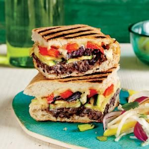 Mexican-Style Grilled Vegetable Sandwich | MyRecipes.com