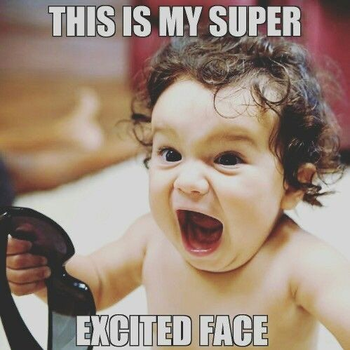 Karen Gates on Twitter | Excited face meme, Excited face, Excited meme