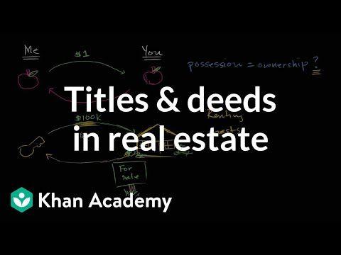 Real Estate Title Date Common App Finance Finance Plan Khan Academy